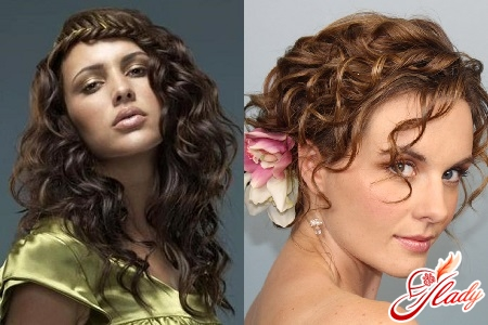 Hairstyles for curly hair of medium length