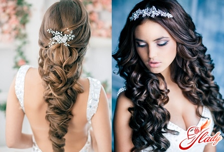 Beautiful hairstyles on long flowing hair