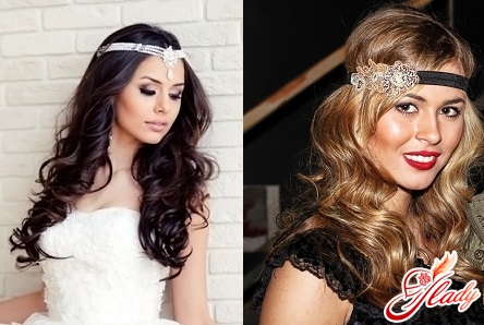 Hairstyles with loose hair with accessories