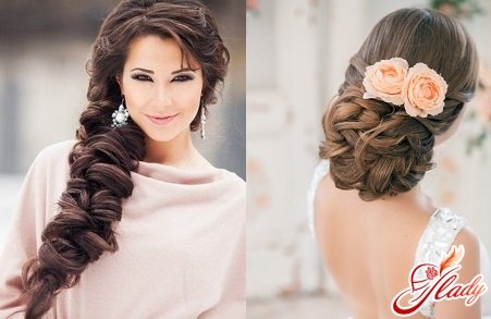 Beautiful hairstyles with gathered hair