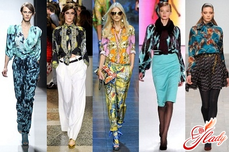 trendy blouses 2016 with print