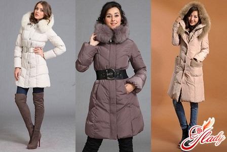 Long women's down jackets