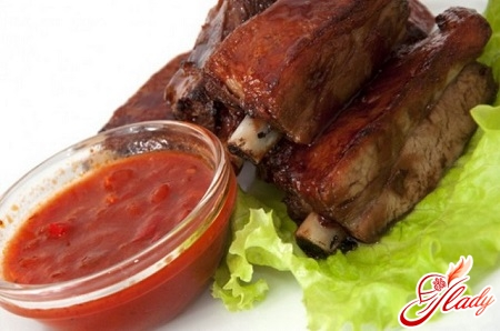pork ribs with sauce
