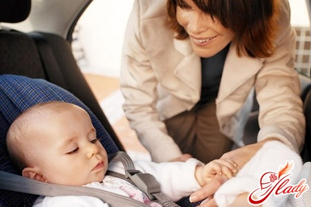 rules for the carriage of children in the car