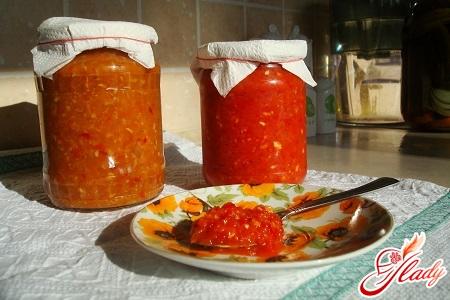 different recipes adzhiki with horseradish