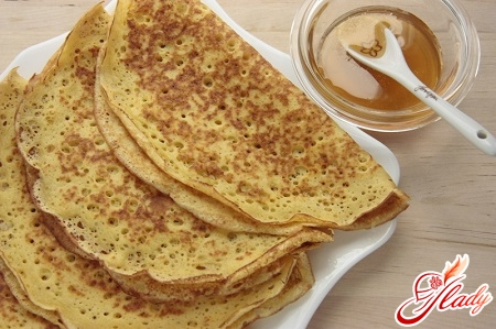 delicious pancakes with holes