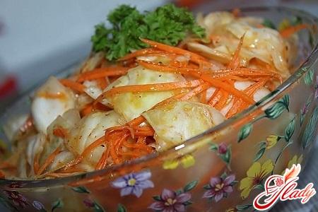 delicious cabbage in Korean