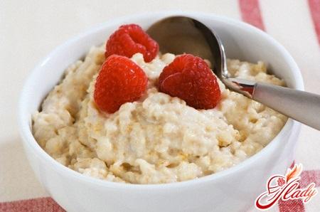 oat porridge on the water