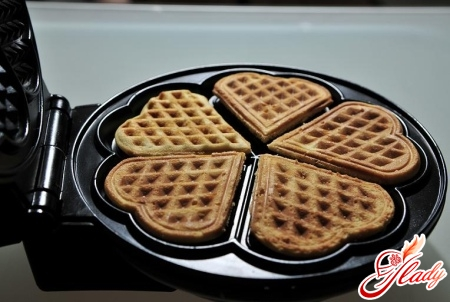 waffles in electric wafer