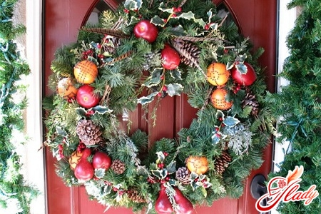 Christmas wreath with own hands