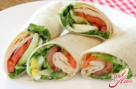 recipes of lavash rolls