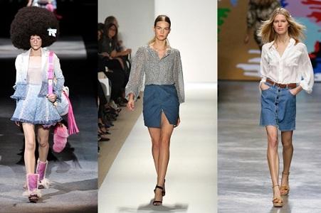з чим носити коротку джинсову спідницю