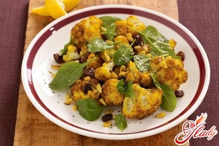 salad of fresh cauliflower curry