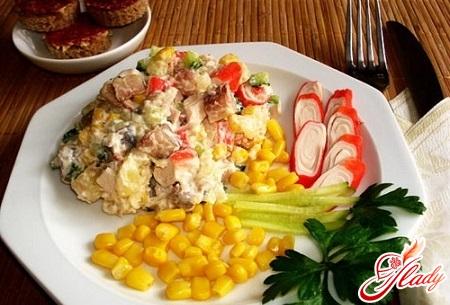 shrimp salad crab sticks