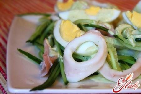 salad of squid and cucumber