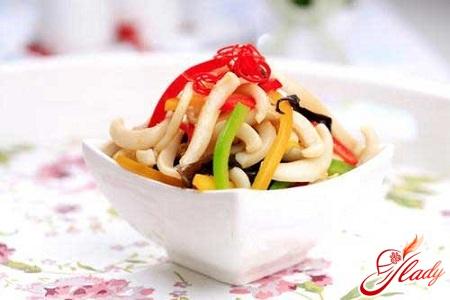 salad of squid with rice recipe