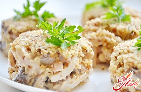 salad of squid with cheese