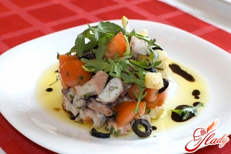 salad of canned squid