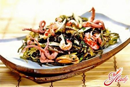salad with sea crab sticks with crab sticks