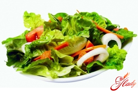 salad of pickled cucumbers
