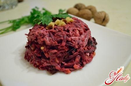 beet salad with prunes