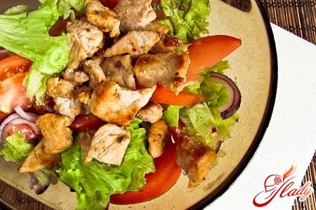 салат зі свинини
