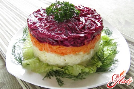 salad with boiled beets