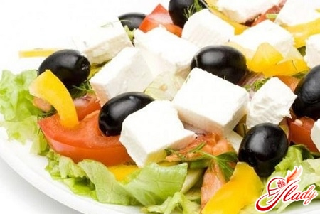 salads with feta cheese