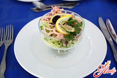 squid salad with pineapple