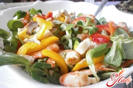 salad with smoked squid recipe