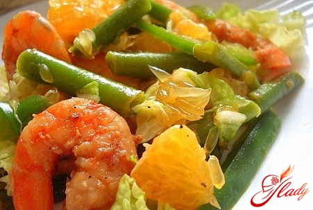 shrimp salad with oranges