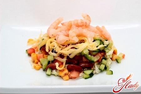 салат з креветками і кукурудзою рецепт