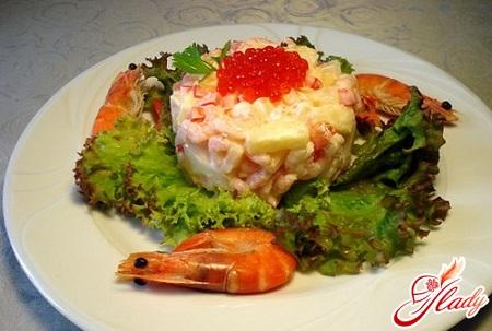салат з креветками і кукурудзою