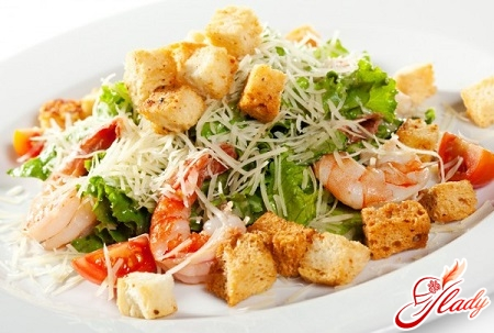 shrimp salad with cheese