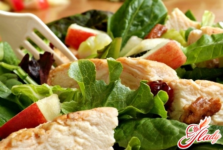 salad with chicken and Chinese cabbage