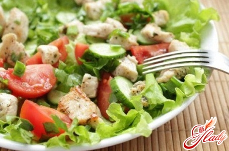 chicken salad with Chinese cabbage