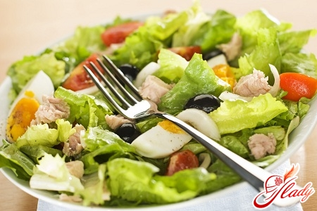 salad with cucumbers and eggs