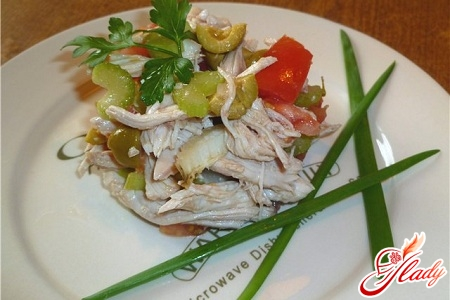chicken and olive salad