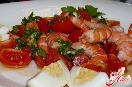 salads with tomatoes