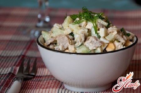 champignon and chicken salad