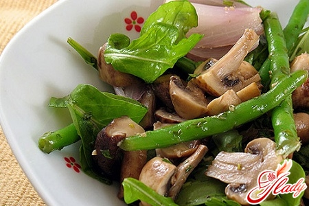 salads recipes with champignons