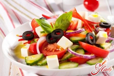 salad of feta cheese