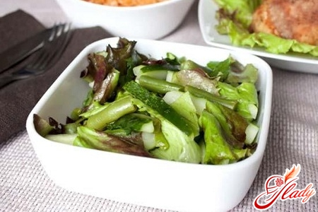 salad with tongue and cucumber