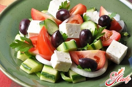 salads with butter
