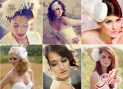 wedding hats with a veil