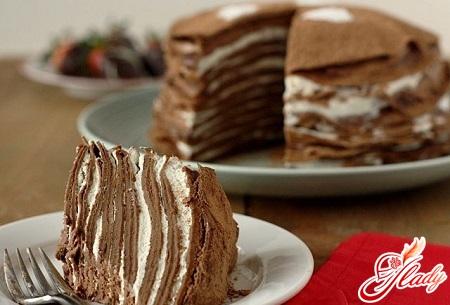 pancake chocolate cake