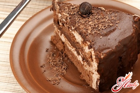 appetizing chocolate cake without flour