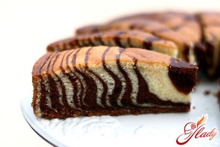 chocolate cake in a multivariate recipe