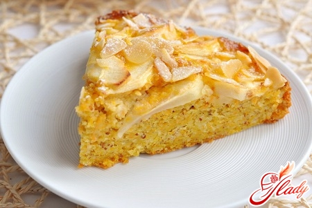 puff cake with apples and cinnamon