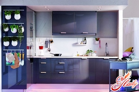 color combination in the interior of the kitchen